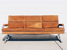 Mid Century Chrome Sofa by Patrician Furniture by VintageandSwoon