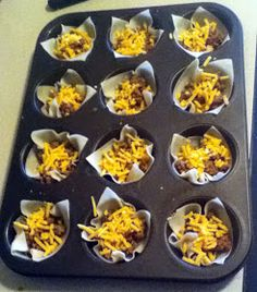 Mission: Pinpossible: Endlessly customizable mini wonton tacos are easy appetizer
