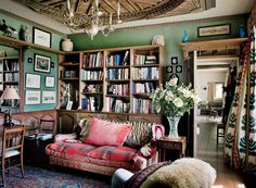 41 super ideas for home library furniture english country House Interior, Home Library, Cottage Interiors, English Living Rooms, Home, Interior, Countryside House, English Decor, Home Decor