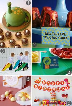 dinosaur birthday party ideas - in-the-corner