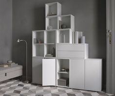 More news! Ikea has released their new products with sales start in February and amongst my favorites is the Eket storage solution. Living Tv, Living Room, Ikea Eket, Hacks Ikea, Famous Interior Designers, Ikea Home, Celebrity Houses, Interior Exterior, Interior Styling