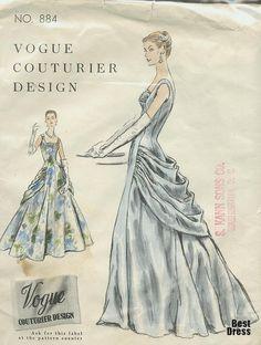 Esboços de vestidos de noiva do século XX