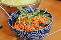 Kosambri - South Indian Carrot Salad via 7 Flavorful Vegan Recipes That Are Good For You on Huffington Post