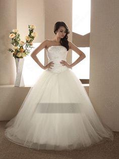 BallGown Strapless Wedding Dress