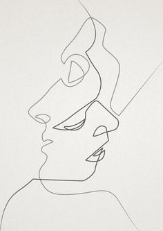 Like the 2 clean lines that simply strike through in a single piece of drawing. -I like the usage of abstract technique but also its continues line image drawing which is very interesting. Art And Illustration, Design Illustrations, Ouvrages D'art, Grafik Design, Art Design, Interior Design, Art Inspo, Painting & Drawing, Drawing Artist