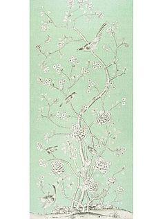 DecoratorsBest - Detail1 - Sch 175043 - Chinois Palais - Aquamarine - Fabrics - DecoratorsBest