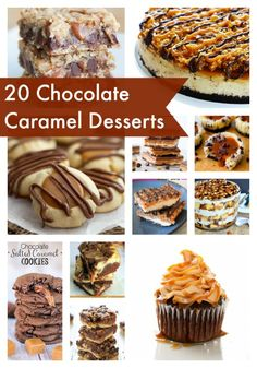 A roundup of 20 Chocolate Caramel Desserts from top bloggers!