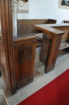 Yanworth St Michael choir stalls 1899 C. Hodgson Fowler -65