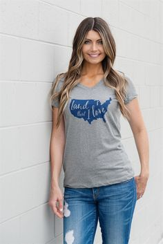 You'll love our v-neck patriotic tees!