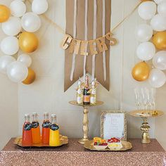A DIY Mimosa Bar that you absolutely cannot live without.