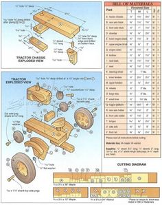 #327 Wooden Tractor Plans - Children's Wooden Toy Plans and Projects