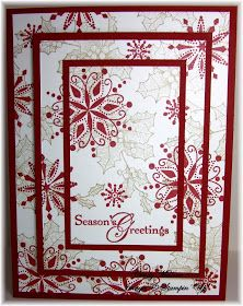 I learned how to make this card at Do Stamping with Dawn.   This is actually very easy and visually interesting.  Hard to see in the ph...
