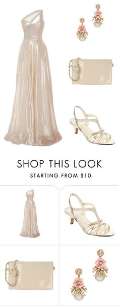 """""""Gold Lame"""" by simpleelegance-558 ❤ liked on Polyvore featuring Romona Keveža, Anne Klein and LP by PERFETTO"""