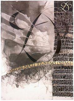 Thomas Ingmire. D. And the Blaze Illumines Dream, 44x62, 1985