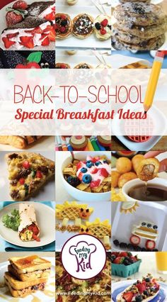 Back to School Special Breakfast Ideas. Check out this list of super fun and school theme breakfasts to make the first day one to remember!