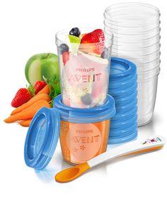 ¡Chollo! Vasos de almacenamiento de comida Philips Avent VIA para bebés por sólo 17 euros. 43% de descuento.