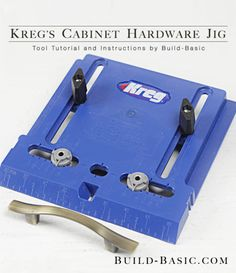 How to Use a Kreg Cabinet Hardware Jig – Tool Tutorial by @BuildBasic www.build-basic.com