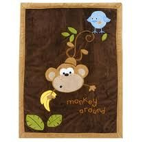 monkey baby blanket - From babies r us