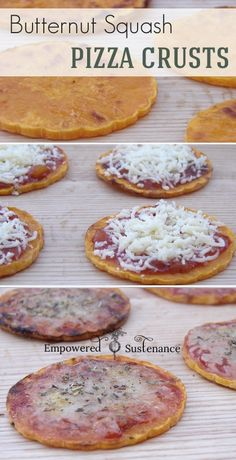 Individual Paleo Butternut Squash Pizza Crusts - super easy and healthy!