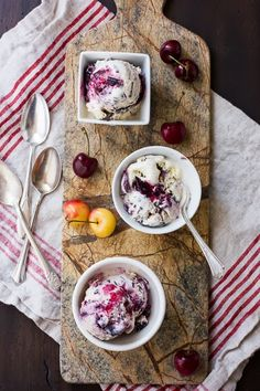 The Bojon Gourmet: Roasted Cherry Vanilla Ice Cream with Bourbon and Chocolate