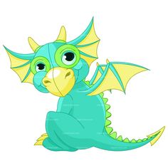 cute dragon - CLIPART BABY DRAGON | Royalty free vector design www.clipart-box.com