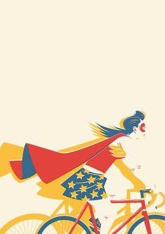 I feel like a superhero when riding my bike! ;)