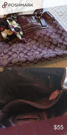Purple Coach Purse Comes with scarf displayed in the picture. Coach Bags Shoulder Bags