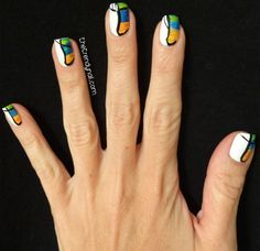 Summer Watercolor Nail Art Tutorial - The Trendy Nail #ManiMonday #Manicam