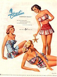 Cute vintage swimwear.