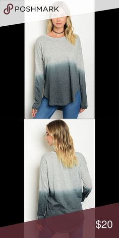 """Light grey forest top Comfy and light weight. Really cute with jeans or leggings. 50% cotton 50% polyester. L25""""B44""""W42 loveriche Tops Tees - Long Sleeve"""