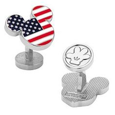 Disney's Mickey Mouse American Flag Cuff Links