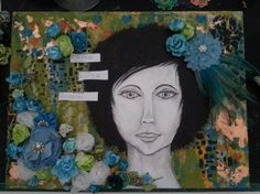 Mixed media canvas by Angela Bolton