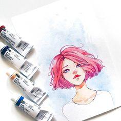I just love painting Dana's hair by ashiyaplz