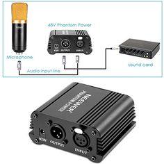 Neewer® 1-Canal Phantom 48V Alimentación Suplimiento Negro con Adaptador y Cable de Audio XLR para Caulquier Micrófono Condensador Músico Equipo de Grabación - http://www.midronepro.com/producto/neewer-1-canal-phantom-48v-alimentacion-suplimiento-negro-con-adaptador-y-cable-de-audio-xlr-para-caulquier-microfono-condensador-musico-equipo-de-grabacion/