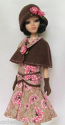 """OOAK Lady Amber's Village Walkabout 1920s for 16"""" Ellowyne Made by Ssdesigns 