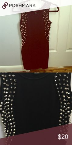 Hotttt black dress with silver studs! Size small worn once! Perfect condition! Forever 21 Dresses Mini