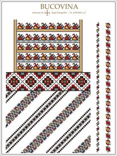 (1) Gallery.ru / Фото #8 - Буковина - румынские схемы - bdancer Folk Embroidery, Embroidery Patterns, Cross Stitch Patterns, Wedding Album Design, Beading Patterns, Diy Clothes, Knitting, Sewing, Crafts