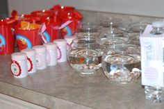 Do you think parents would mind a Dorothy the goldfish as a party favor?? Carson may have to give these out!!!