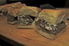 Blue Cheese and Bacon Stuffed Sliders1