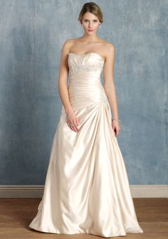 Victoria ruched taffeta wedding gown with embellished sweetheart neckline at #Ruche @mimi ヾ(^∇^) $299 #sale