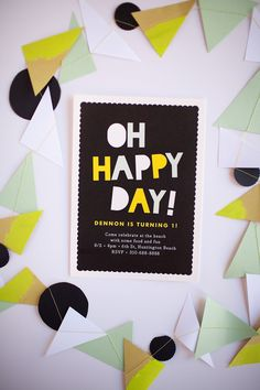 Black, white, yellow & mint bday theme by Tell Love and Chocolate