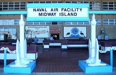 this is where you enter after getting off the plane. they used to give leis here when it was still an active base. Midway Atoll, Beautiful Places To Live, Leis, Plane, Islands, Red And White, Hawaii, Aircraft, Memories