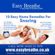 10 #Easy #Home #Remedies For #Snoring.