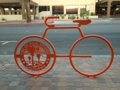 Red bike rack. Courtesy of City of Palm Springs.