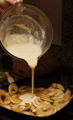 German apple pancake. #breakfast #recipes