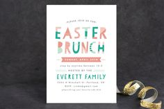 Patterned Easter Holiday Party Invitations by Pistols at minted.com