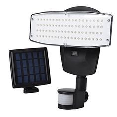 Full product set 1 x 80 LED solar spotlight with motion detector 1 x Solar Panel 1 x Ground spike incl. Extension 1 x wall mount for solar panel incl.  Mounting material 3 x LITHIUM-ION 1500 mAh (alr...