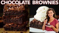 Creamy Shrimp Pasta Recipe (VIDEO) - NatashasKitchen.com Meatloaf Recipes, Brownie Recipes, Pie Recipes, Cookie Recipes, Chicken Recipes, Best Fudgy Brownie Recipe, Fast Recipes, Homemade Brownies, Fudgy Brownies