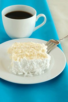 5 WW points per serving.  Coconut Cake Recipe - Weight Watchers-5 Points   - LaaLoosh
