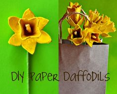 Egg Carton Daffodils, do this with Hez for g-parents